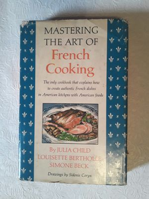 JULIA CHILD Mastering the Art of French Cooking 1961 1st Edition Hard Cover with Dust Jacket for Sale in Pembroke Park, FL