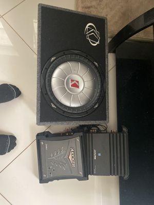 "Kicker 12"" speaker and kicker amp for Sale in Fort Lauderdale, FL"