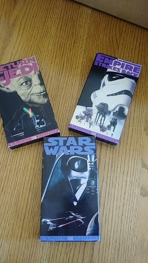 Star Wars..VHS...SET OF 3 for Sale in Naperville, IL
