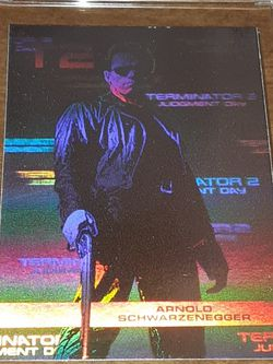 Arnold Terminator 2 Foil Card for Sale in Levittown,  PA