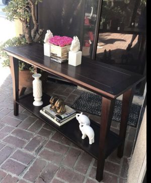 2 Tier Console Table Sofa Hallway Solid Wood - delivery 🚚 is Available for Sale in Burbank, CA