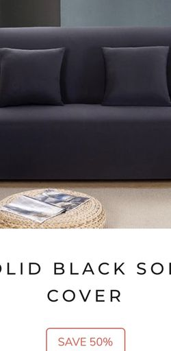 Sofa Cover, Black for Sale in Cuyahoga Heights,  OH