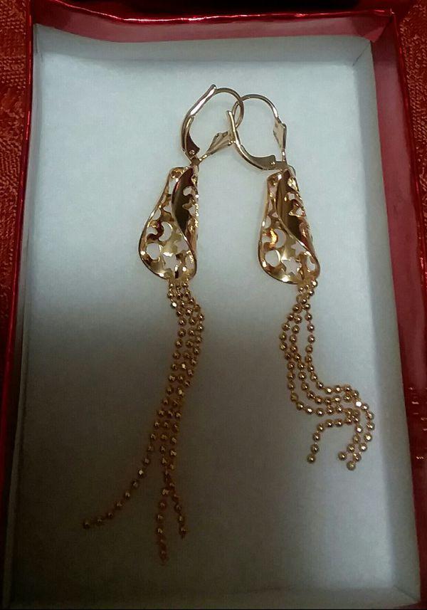 hermosos aretes oro brasileño