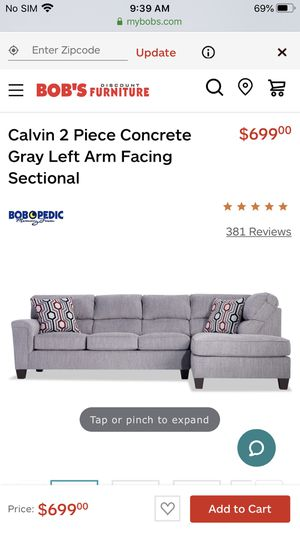 CALVIN two-piece sectional for Sale in Brooklyn, NY