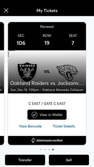 Raiders VS Jaguars Black Hole for Sale in Oakland, CA