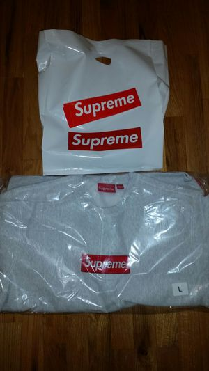 Men's Large Supreme Box Logo Crewneck Ash Grey for Sale in Bellevue, WA