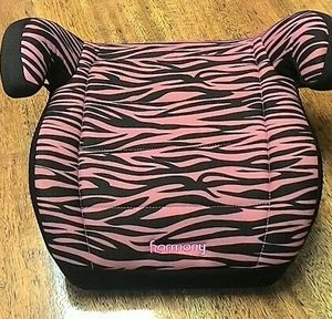 $15 OBO Great HarmonyYouthBooster Seat ZebraPrintPink& Black for Sale in Nashville, TN