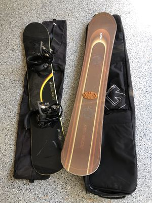 2 Snowboards, 2 bags for Sale in Beverly Hills, CA