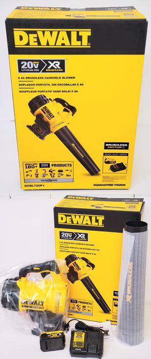New 2019 Pickup is $120 DeWALT DCBL720P1 20V MAX XR Brushless Handheld Blower + 5.0Ah DCB205 Battery & DCB115 Charger DCBL720 DCBL720B for Sale in Pasadena, CA