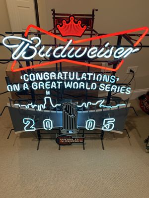 Budweiser White Sox 2005 Championship Neon for Sale in Mokena, IL