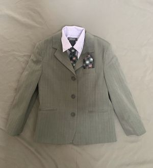 Boys Size 6 Jacket, Shirt, Tie and Handkerchief Set for Sale in Dover, DE