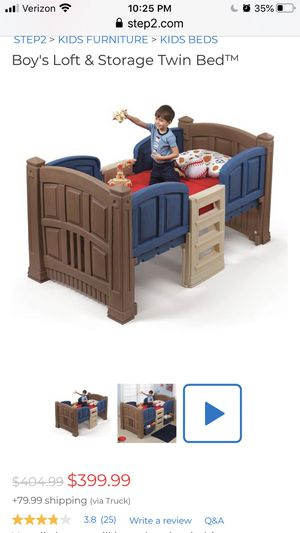 Twin size boys bed with storage for Sale in Katy, TX