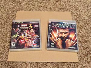 X-men Wolverine + Marvel vs Capcom 3, PS3 for Sale in San Antonio, TX