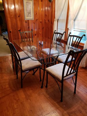 Glass top table with 6 chairs. for Sale in Columbia, TN
