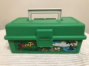 Vintage Woodstream plastic Disney's Duck Tales Catch'em box Tackle box for Sale in Des Plaines, IL