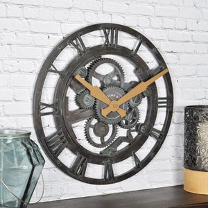 Gear Wall Clock Metallic Home Office for Sale in Marquette, MI