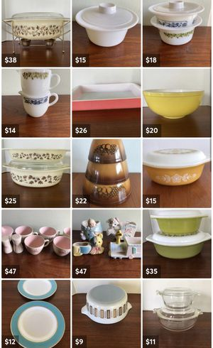 Pyrex and Mid century small collectibles for Sale in Grand Terrace, CA