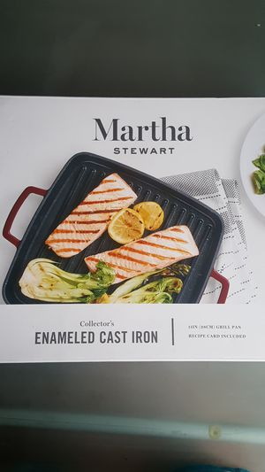 Martha Stewart enameled cast iron grill pan for Sale in Pico Rivera, CA