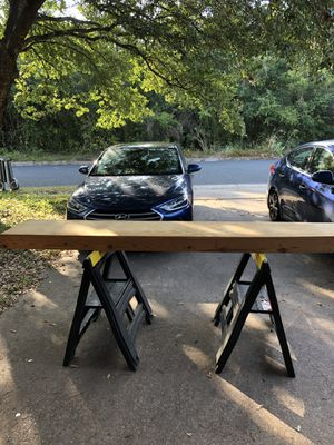 Two 8 Foot Wood Shelves Perfect for Garage for Sale in Austin, TX