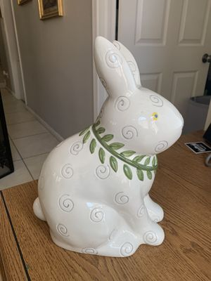 Vintage Cookie Jar Bunny Rabbit Sakura By Debbie Mumm Large Ceramic Collectible for Sale in Phoenix, AZ