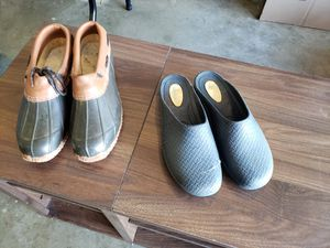 Water and garden shoes size 9 priced at 1.00 each for Sale in Zanesville, OH