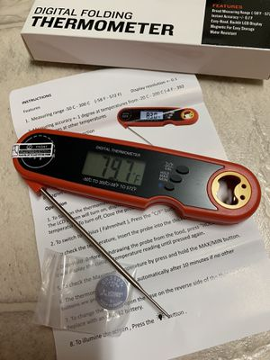 Waterproof Digital Instant Read Meat Thermometer Grill with Backlight & Magnet Digital Probe for BBQ Deep Fry Oil Smoker Thermometer for Sale in El Cajon, CA