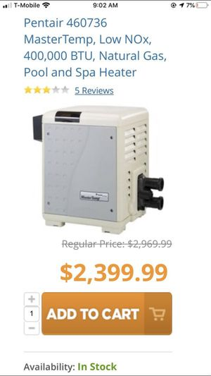 Pentair Pool and spa heater for Sale in Azusa, CA
