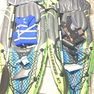 2X Inflatable Kayaks Intex Challenger K1 for Sale in Fort Worth, TX