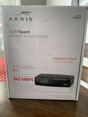 Arris surfboard internet and voice modem for Sale in Joliet, IL