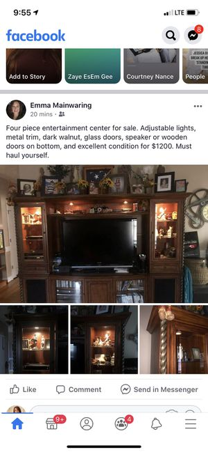 Large extravagant entertainment center for Sale in Autryville, NC