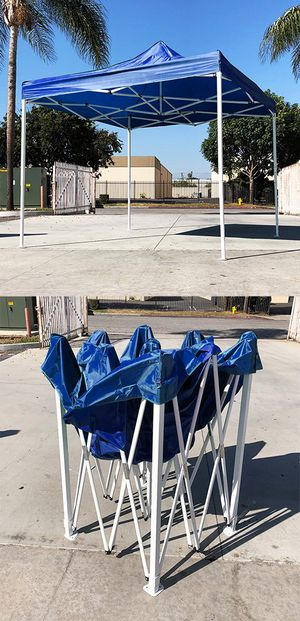 New $90 Blue 10x10 Ft Outdoor Ez Pop Up Wedding Party Tent Patio Canopy Sunshade Shelter w/Bag for Sale in El Monte, CA