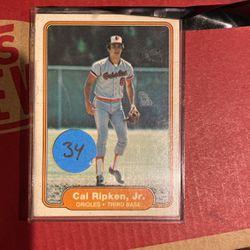 1982 Fleer *Cal Ripken Jr* Baltimore Orioles Baseball Card for Sale in Los Angeles,  CA