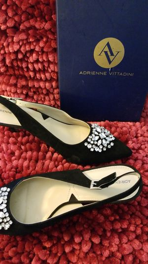Shoe Black Heel w Rhinestones. REDUCED for Sale in Eagle Lake, FL