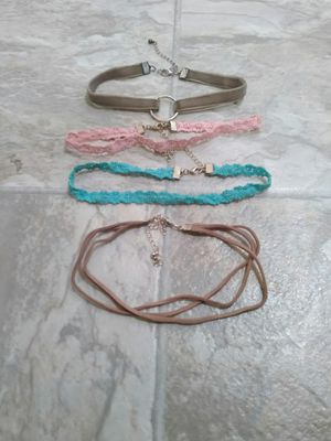 Four chokers bought from Walmart for Sale in Menahga, MN
