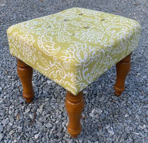 Vintage Wood Legs Ottoman Footrest Stool for Sale in Chapel Hill, NC