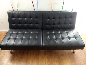 Futon Leather for Sale in Plainsboro Center, NJ