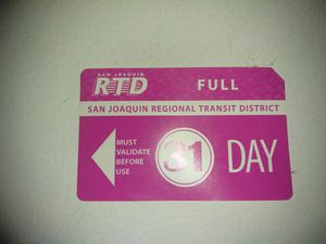 JTD 31Day pass 25 bucks or trade for infant stroller for Sale in Stockton, CA