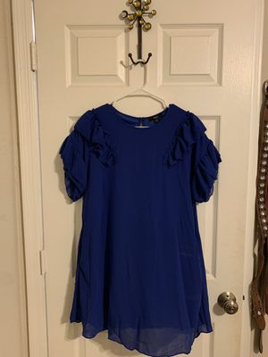 Women's Royal Blue Short Sleeve Ruffle Mini Dress for Sale in Phoenix, AZ
