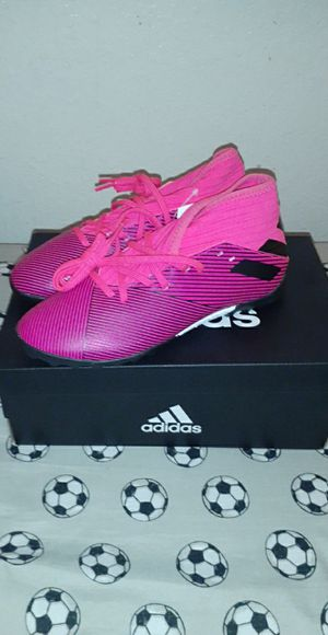 Brand new youth messi adidas nemeziz 19.3 soccer turf shoes for Sale in Ontario, CA