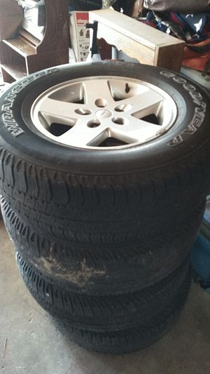 4 jeep Wrangler wheels and tires for Sale in Richmond, VA