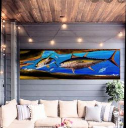 7 Ft Tuna On Wood Art Boats Patio Fishing Outdoors for Sale in Pompano Beach,  FL