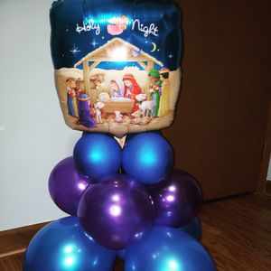 Holy night Christmas balloon decoration for Sale in Ashland, KY
