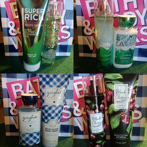 Bath & Body Works two-piece sets $15 rare and discontinued included for Sale in Moreno Valley, CA
