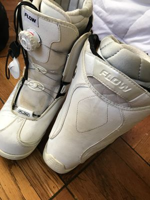 Snowboard boots with flow technology for Sale in Arlington, VA