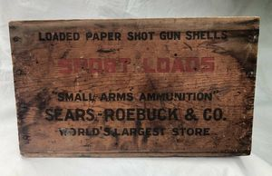 Rare Sears - Roebuck And Co. Wood Ammunition Crate for Sale in Atlanta, GA