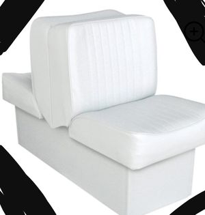 New!! Loveseat, double upholstered boat seat, deluxe loveseat, vinyl upholstered loveseat , couch seats 2, boat seat , white for Sale in Phoenix, AZ