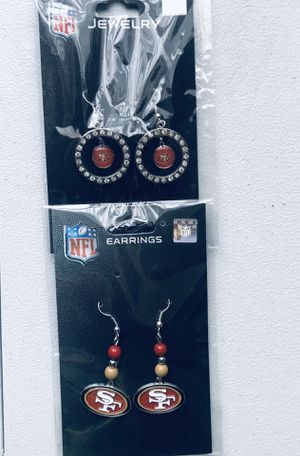NFL 49ers Earrings for Sale in Montebello, CA