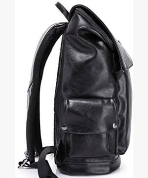 KAKA Leisure Laptop leather Backpack for Work - Black for Sale in Frisco, TX