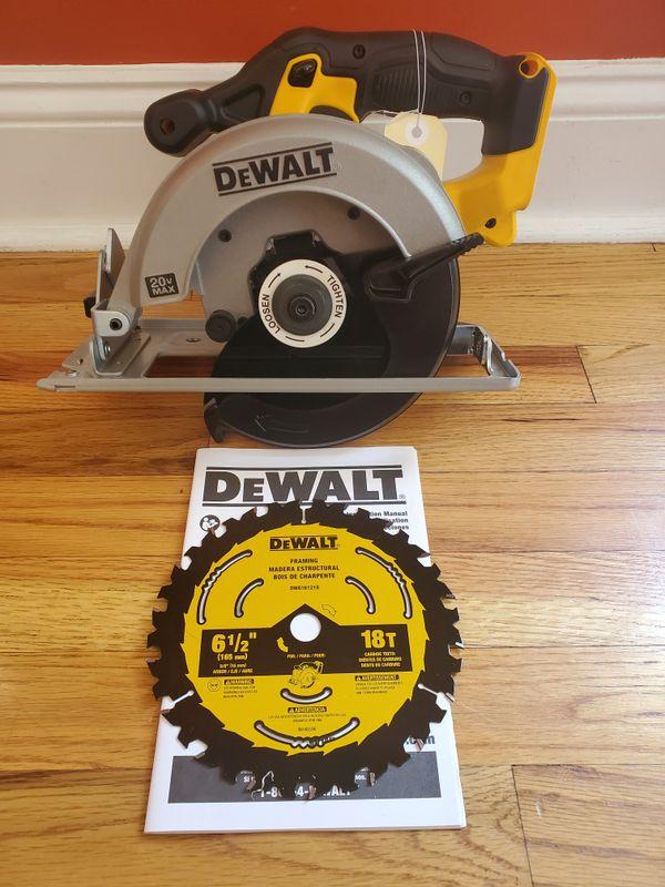 "NEW Dewalt DCS393 20V Cordless Battery Circular Saw 6-1/2"" 20 volt W/ Blade"