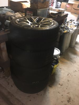 Rims and tire for mustang GT exhaust for eco boost for Sale in Austin, TX